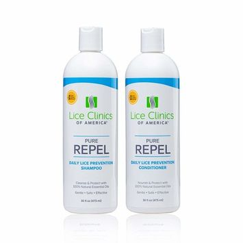 Lice Clinics of America Daily Lice Prevention Shampoo & Conditioner Kit – Repel Lice with 100% Natural Essential Oils