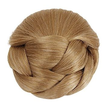 Better-Home Synthetic Hair Braided Chignon Bun Hairpiece Clip in Bun Hair Extensions