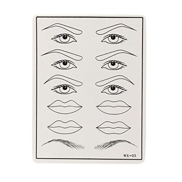 DZT1968 1pc Permanent Cosmetic Eye Lip Eyebrow Makeup Practice Training Skin Sheet Tattoo