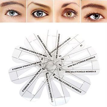 DZT1968 10 Styles natural eyebrow shape Stencils Grooming Kit Makeup Shaper Set Template Tool