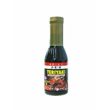 JES Teriyaki Marinade & Sauce - Spicy, 14.7-Ounce Bottle (Pack of 3)