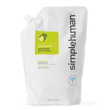 simplehuman Antibacterial Liquid Hand Soap Refill, 34 oz.