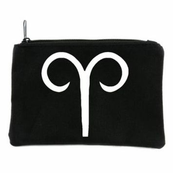 Zodiac Aries Sign Cosmetic Makeup Bag Pouch Astrology Horoscope The Ram