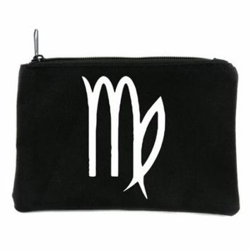 Zodiac Virgo Sign Cosmetic Makeup Bag Pouch Astrology Horoscope The Virgin
