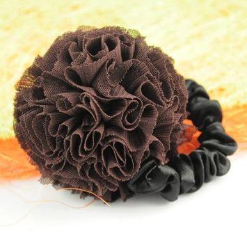 Charming Fabric Flower Shaped Hair Ornaments ,Ho-054