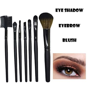 Super Pigmented - Fheaven 7 Pcs Top Influencer Professional Eyeshadow Wood Makeup Brush EyeShadow Brush Cosmetics Blending Brush Tool