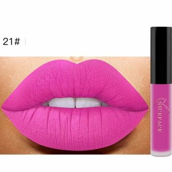 Hunputa New Lip Lingerie Matte Liquid Lipstick Long Lasting Waterproof Moisturizing Lip Gloss Makeup 12 Shades