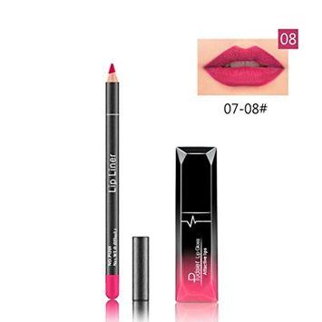 Hunputa 2pcs Long Lasting Lipstick Waterproof Matte Liquid Gloss Lip Liner Cosmetics Set