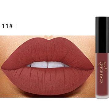 Hunputa Fashion Lip Lingerie Matte Liquid Lipstick Long Lasting Waterproof Moisturizing Lip Gloss Makeup 12 Shades