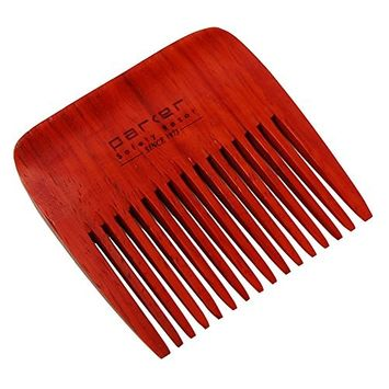 Parker's Premium Rosewood Wide Tooth Beard Comb with Jute Pouch