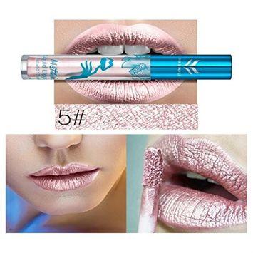 Hunputa Fashion Metallic Diamond Lip Gloss Glitter Long Lasting Lipstick Shine Lip Gloss
