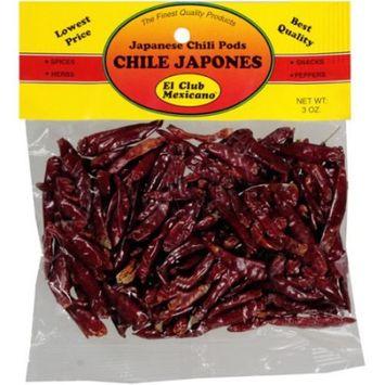 El Club Mexicano Japanese Chili Pods, 3 oz [multipack_quantity: multipack_quantity-1]
