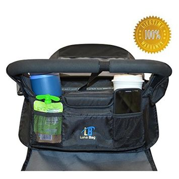 Luna Baby Stroller Organizer Magnetic Closure System- Perfectly Fits Stroller Handles 13