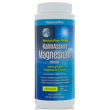 Nature's Plus, KalmAssure Magnesium Powder, Unflavored, 400 mg , 0.80 lb (360 g)