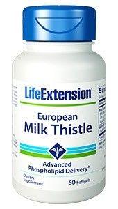 European Milk Thistle Advanced Phopholipid Delivery Life Extension 60 Softgel