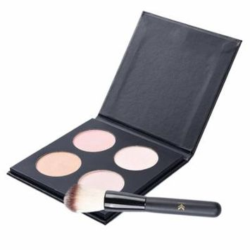 High Light Palette Pro Highlighter Makeup Kit with Brush,Pretty See