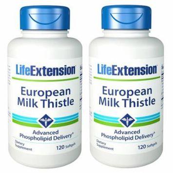 Life Extension European Milk Thistle 120 SGels (Pack of 2)