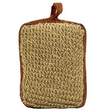 Exfoliating Natural Brown Hemp Bath Sponge - Small Size