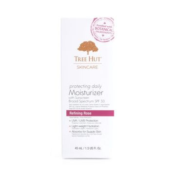 Tree Hut Skincare Protecting Daily Moisturizer With Sunscreen Broad Spectrum Refining Rose