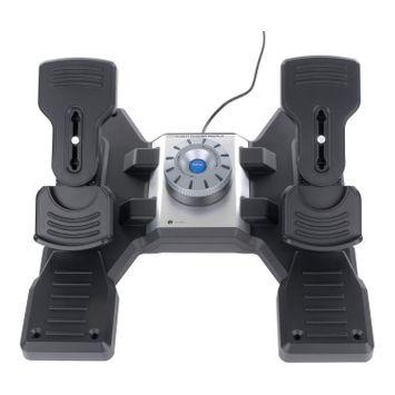 Mad Catz Saitek Pro Flight Rudder Pedals - Cable - USB - PC