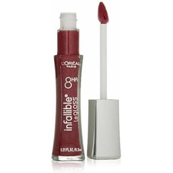 Lor Lipgloss Infal Glist Size .90 O Loreal Infallible Lip Gloss Le Glistening Berry