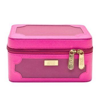 SOHO Pink Colorblock Medium Makeup Organizer Box