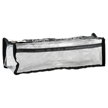 Soho Basics Pencil Case, Long, Clear, 1 case