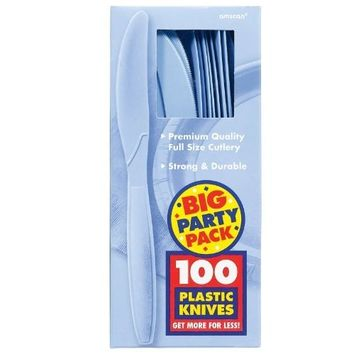 Amscan 43603.108 43603.108 Disposable Knives, Blue, 7.9