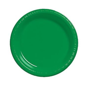 amscan Reusable Round Childrens Party Plates, 20 Pieces, Made from Plastic, Clear, 10 1/4