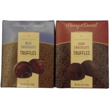 Harry & David Milk Chocolate/Dark Chocolate Truffle Bundle