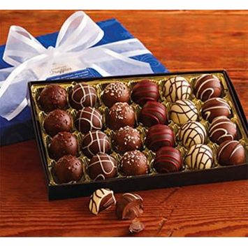 Harry and David Holiday Truffles Hand Decorated Chocolates