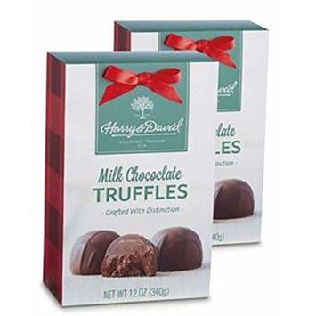 Harry and David Holiday Milk Chocolate Truffles - 2 Pack