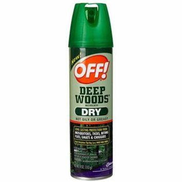 Off! Deep Woods Dry Aerosol Spray-4 oz.