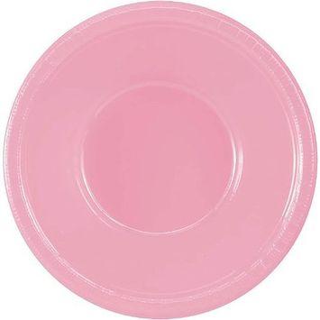 Amscan 43034.109 Plastic Bowls, 12oz, New Pink