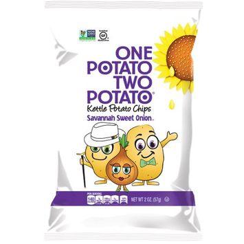 One Potato Two Potato Kettle Chips, Sweet Onion, 2 Oz