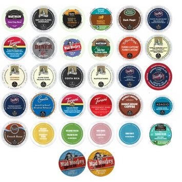 Gns Sales Martinson, Van Houtte, Marley, Green Mountain, Timothy's and More, Variety Sampler of Keurig Compatible Single Cups, 32 Count