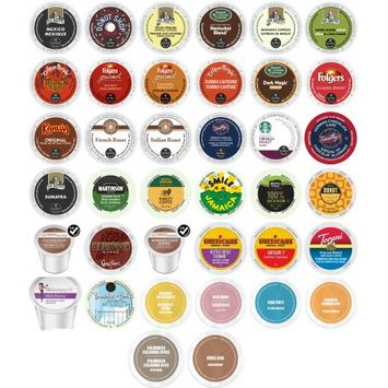 Gns Sales Exotic, Bold and Decaf Coffee and Hot Chocolate Top Seller Variety K-Cup and RealCup Portion Pack for Keurig Brewers, 38 Count