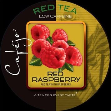 Cafejo K-CJT-RR-1-50 Red Raspberry Tea K-Cups for Keurig Brewers