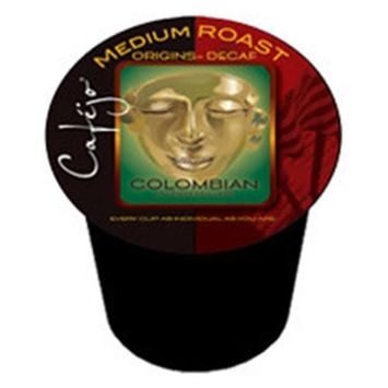 Cafejo K-CJ-DC-1-50 Decaf Colombian K-Cups for Keurig Brewers
