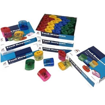 DollarDays 2274963 Dual Enclosed Pencil Sharpener Pack of 240 - 240 Count