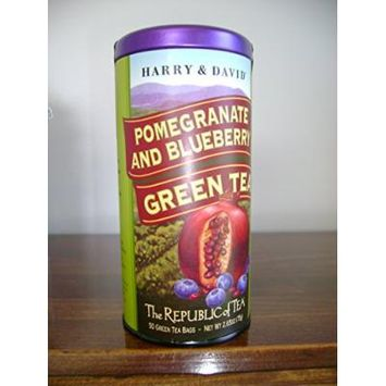 The Republic of Tea, Pomegranate & Blueberry Green Tea (Harry & David), 50 Count