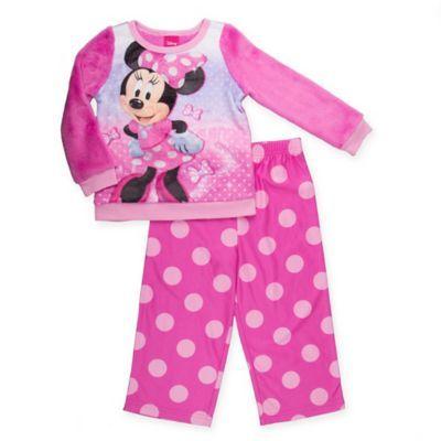 Disney® Minnie Mouse Size 4T 2-Piece Plush Pajama Set in Pink