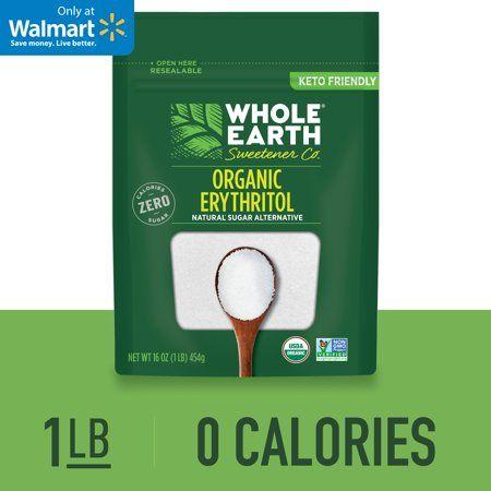 Whole Earth Sweetener 100% Erythritol Sweetener, Natural Sugar Alternative, Keto Sweetener, 1.0 Lb