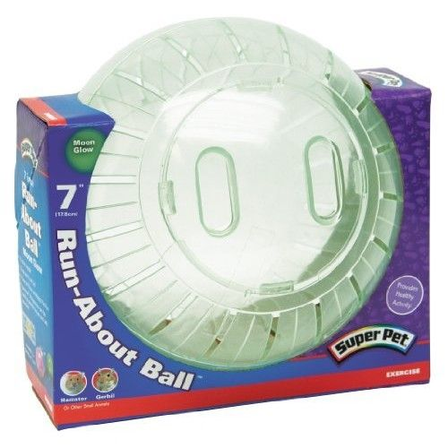 """Super Pet Run-About 7"""" Hamster Exercise Ball, Moon Glow"""