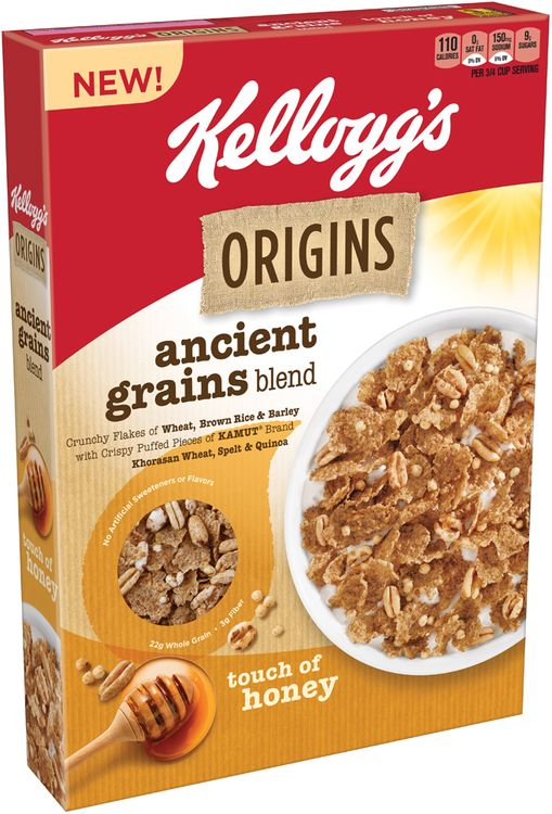 Kellogg's Origins™ Ancient Grains Blend Touch of Honey Cereal