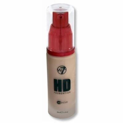 W7 HD Foundation 12 Hour Natural Beige 1.01oz / 30ml