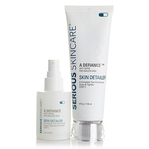 Serious Skincare Skin Detailer Complete 2-Part Facial Peel, Brighten & Tighten ~ Full Size