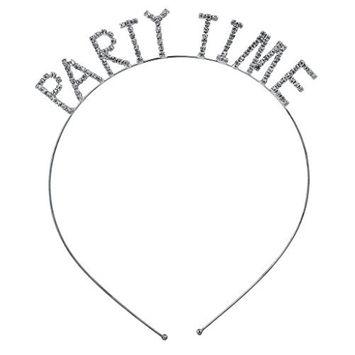 Lux Accessories Halloween Girls Fun Silvertone Rhinestone Verbiage Bachelorette Party Headband