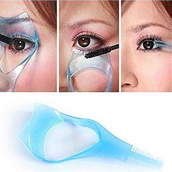 3PCS Random Color Plastic Makeup Upper Lower Eye Lash Mascara Applicator Guard With Comb Eyelashes Curlers Shields Applicators For Women Girls