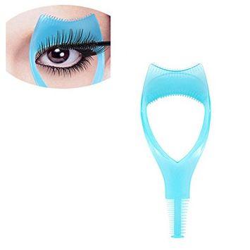 3Pcs Plastic Makeup Upper Lower Eye Lash Mascara Guard Applicator With Comb Eyelashes Curlers Shields Applicators